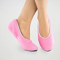 Тапочки балетки розово белые