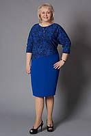 Оригинальное модное женское платье синего цвета