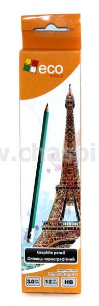 Олівець пласт.НВ FRANCE з ластик.