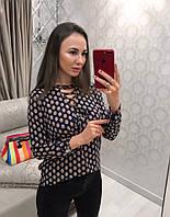 """Блузка женская из софта со шнуровкой """"Фрезка"""", фото 1"""
