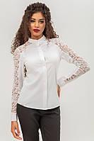 Белая блузка с кружевом, фото 1