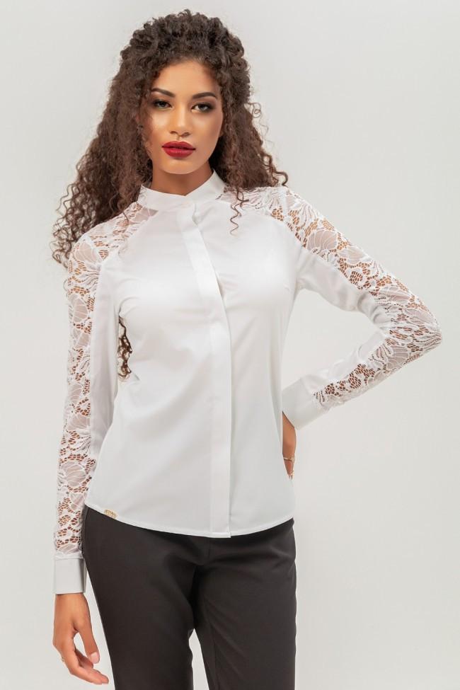 15b54ab2116 Белая блузка с кружевом - 2 Льва ® в Киеве