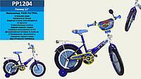 """Велосипед двухколесный 12"""" PP1204 Щенячий патруль со звонком, зеркалом,без ручного тормоза"""
