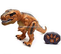 Динозавр игрушечный «Тираннозавр» на радиоуправлении (звук, свет) арт. F161/352 - 2 цвета Коричневый, фото 2