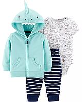 """Спортивный костюм для мальчика """"Акула"""" Carter's , ментоловый набор для малыша картерс"""