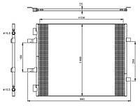 Радиатор кондиционера на Renault Trafic  2006->  2.0dCi  —  NRF  (Голландия) - NRF 35960