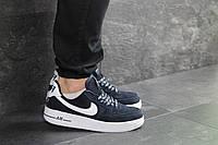 Мужские кроссовки Nike Air Force AF 1, артикул: 7460 темно синие, фото 1