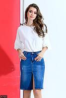 Юбка джинсовая , модная юбка ,джинсовая модная юбка, ждинсовая стильная юбка, юбка джинсовая синяя