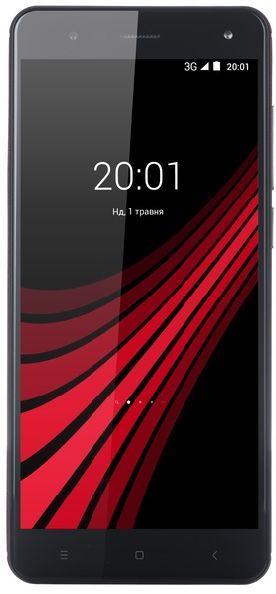 """Смартфон со сканером отпечатков пальцев 5,5"""" 4G 2/16Gb ERGO V550 Vision со сменными крышками, черной и красной"""