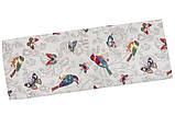 """Скатерть круглая гобеленовая """"Птицы, бабочки"""", 240 см, фото 2"""