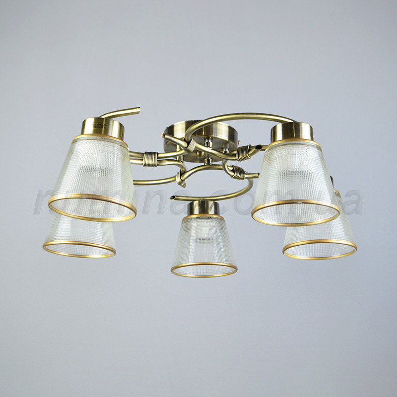 Люстра потолочная на пять лампочек 29-L057/5AB+WT
