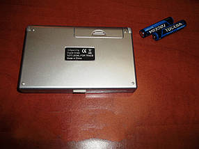 Ювелирные компактные весы с крышкой FS 100 г / 6255, выбор меры веса, функция тары, подсветка дисплея, 2*ААА, фото 3