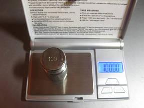 Ювелирные компактные весы с крышкой FS 100 г / 6255, выбор меры веса, функция тары, подсветка дисплея, 2*ААА, фото 2