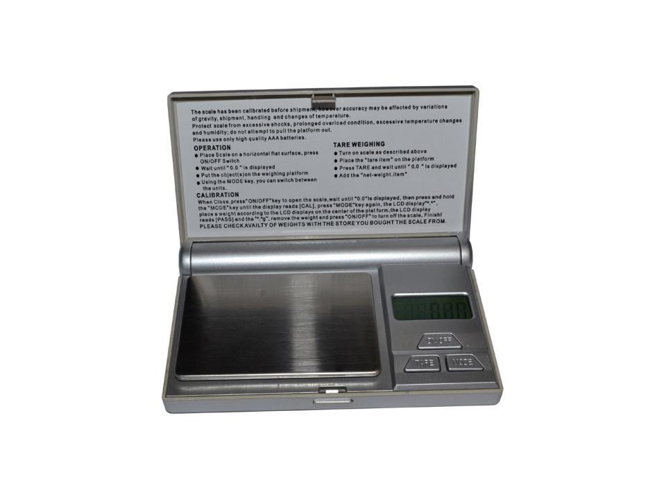 Ювелирные компактные весы с крышкой FS 100 г / 6255, выбор меры веса, функция тары, подсветка дисплея, 2*ААА