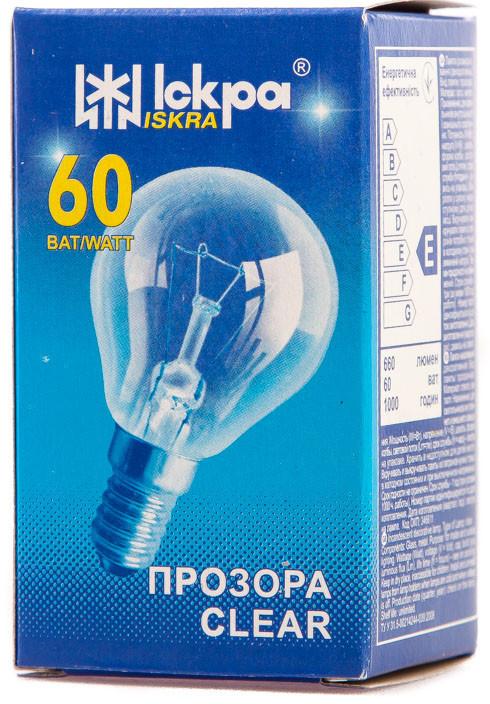 ДШ 60\Е14 Лампа шар в индивидуальной упаковке Искра