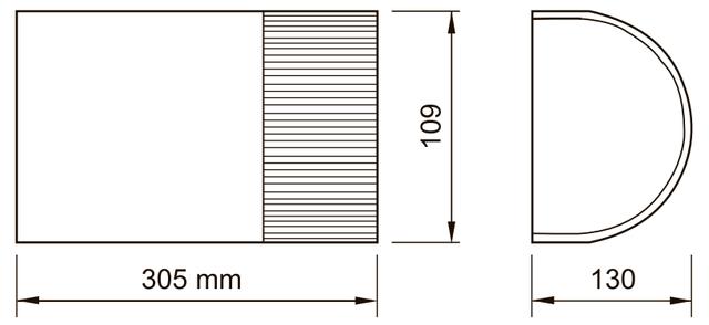 Габаритные размеры привода NICE SHEL 60