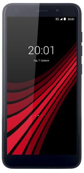 Смартфон на 2 сим карты 5,5 дюймов 4 ядра 1/8Gb ERGO V551 Aura черный