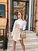 Модное платье-рубашка с асимметрией, фото 2