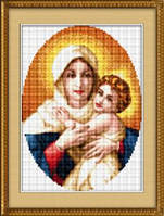 Набор для рисования камнями (холст) «Мадонна с младенцем» LasKo