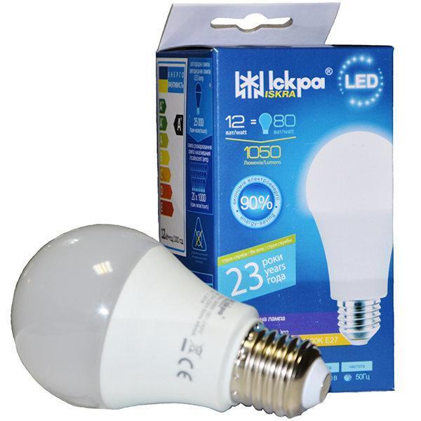 "LED Lamp A60 12W 3000K E27 ""Iskra"" Искра"