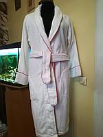Махровый женский белый  халат 100% Хлопок, Турция