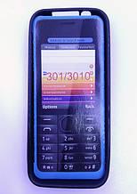 Чохол силікон nokia 301 3010 чорний