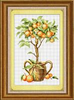 Набор для рисования камнями (холст) «Апельсиновое дерево» LasKo