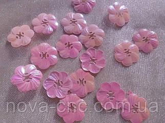 Пайетки цветок 27 мм розовый хамелеон