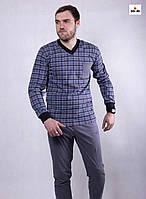 Пижама мужская летняя трикотажная серая кофта со штанами 48-60р.