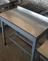 Производственный стол с нержавейки б/у (900х500 мм. Эконом), фото 1