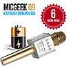 Беспроводной Bluetooth микрофон караоке Q9 золотой в чехле, фото 8