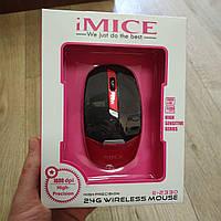 Беспроводная оптическая компьютерная мышка IMICE E-2330 1600dpi черно-красный