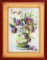 Набор для рисования камнями (холст) «Весенние цветы» LasKo