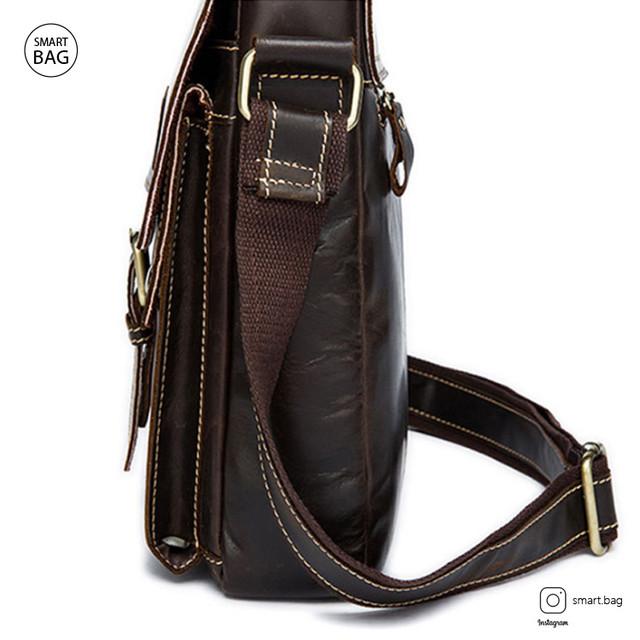 Классическая кожаная мужская сумка Marrant | темно-коричневая