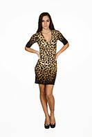Недорогое облегающее женское леопардовое платье 810