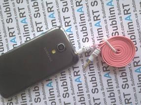 AUX кабель плоский розовый mini-jack, 1 м., фото 3