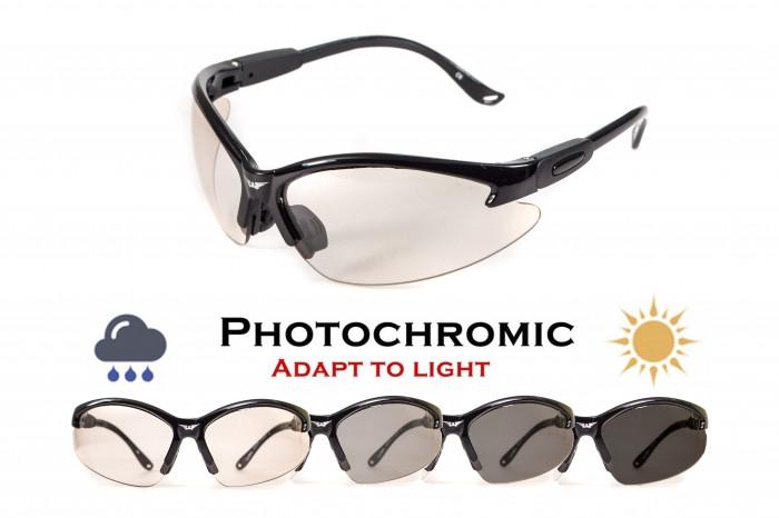 Фотохромные очки хамелеоны Global Vision Eyewear COUGAR 24 Clear