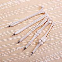 Шариковые ручки в форме костей! Оригинальные ручки человеческие кости! Набор 5 шт.!
