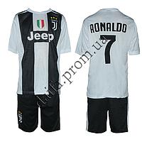 Спортивная форма для футбола 1812 ФК Juventus RONALDO (6-14 лет). Доставка из Одессы.