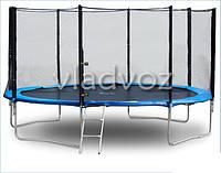 Батут детский уличный с защитной сеткой и лестницой для дачи Funfit 312 см.