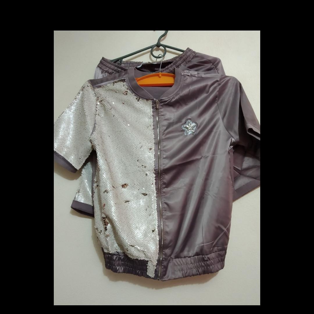 25978648 Спортивный костюм гламурный с шортамм - Интернет-магазин