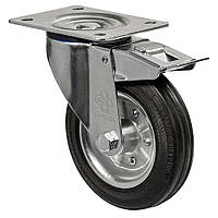 Колеса поворотные с крепежной панелью и тормозом Диаметр: 80мм. Серия 31 Norma , фото 1