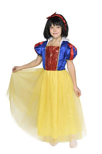 Карнавальный костюм Белоснежки с париком