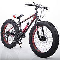 """Велосипед Hammer S-800 Extrime Fatbike 24""""дюймов (черно - красный)"""