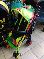Детская прогулочная коляска-трость El Camino Colorito. Дитяча прогулочна коляска тростинка