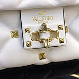 Сумка, клатч от Валентино модель Candystud натуральная кожа, цвет белый, фото 2