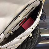 Сумка, клатч от Валентино модель Candystud натуральная кожа, цвет белый, фото 4