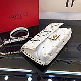 Сумка, клатч от Валентино модель Candystud натуральная кожа, цвет белый, фото 3