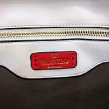 Сумка, клатч от Валентино модель Candystud натуральная кожа, цвет белый, фото 7