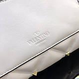 Сумка, клатч от Валентино модель Candystud натуральная кожа, цвет белый, фото 8